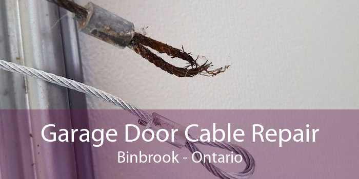 Garage Door Cable Repair Binbrook - Ontario