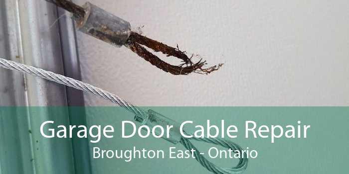 Garage Door Cable Repair Broughton East - Ontario