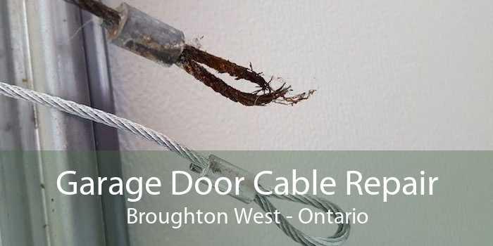 Garage Door Cable Repair Broughton West - Ontario