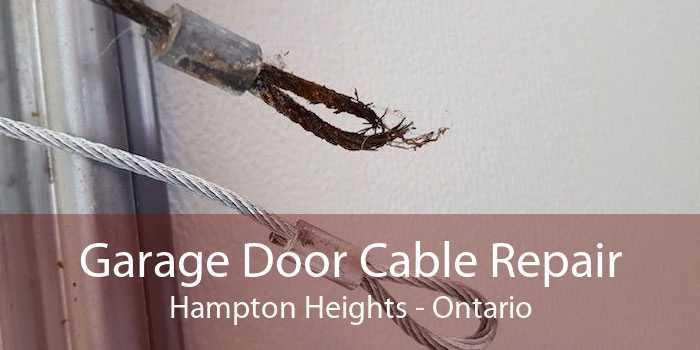 Garage Door Cable Repair Hampton Heights - Ontario