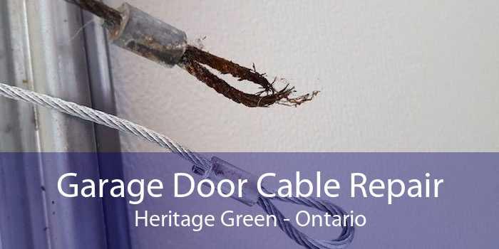 Garage Door Cable Repair Heritage Green - Ontario