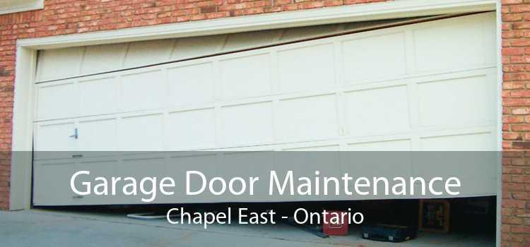 Garage Door Maintenance Chapel East - Ontario