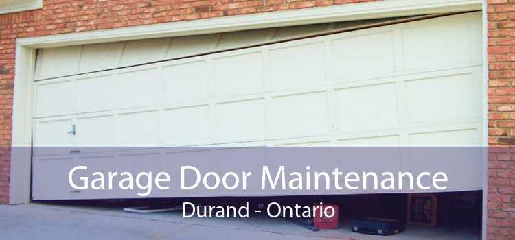 Garage Door Maintenance Durand - Ontario