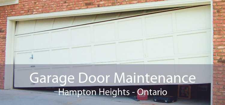 Garage Door Maintenance Hampton Heights - Ontario