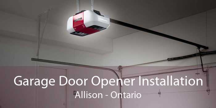Garage Door Opener Installation Allison - Ontario