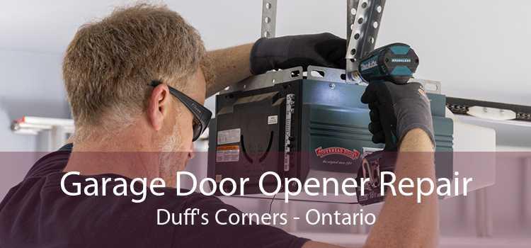 Garage Door Opener Repair Duff's Corners - Ontario